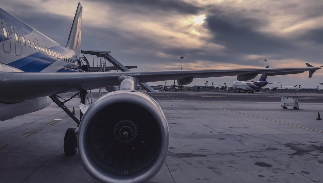 Photo of aircraft parked and stored in an airport