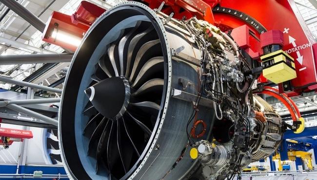 Aircraft Engine Under Repair