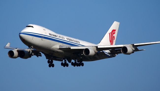 A China Airlines Cargo Boeing 747-400 Freighter in flight