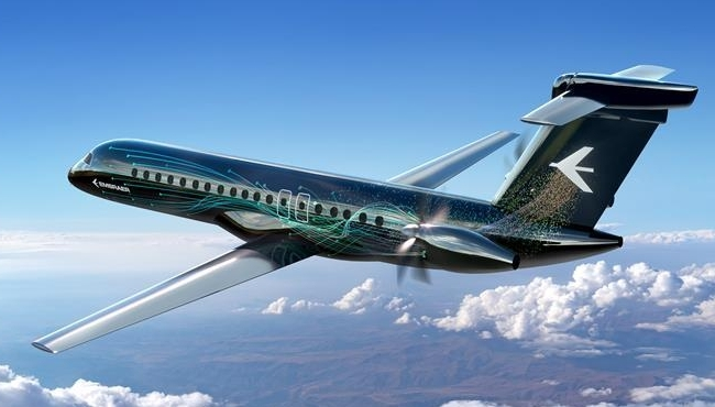 A graphic visualisation of Embraer's proposed new turboprop aircraft design. Source: Embraer