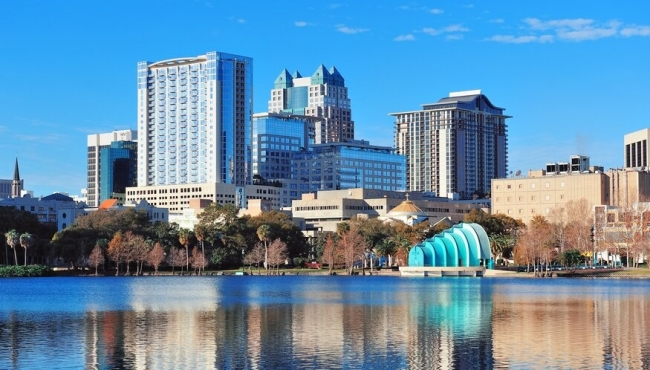 Orlando Florida landscape image of the city
