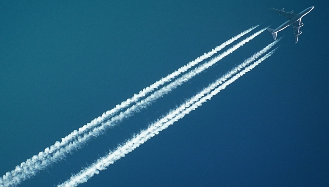 Domestic plane travelling over new year