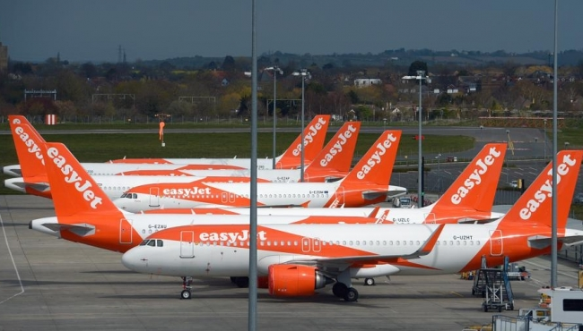 Covid-19 Forces easyJet Fleet Out Of The Skies, March 2020