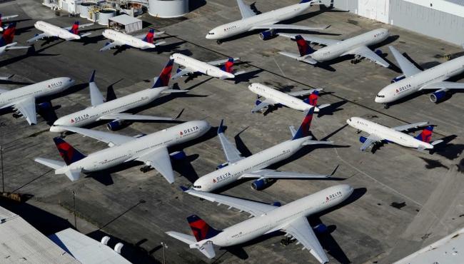 A fleet of aeroplanes